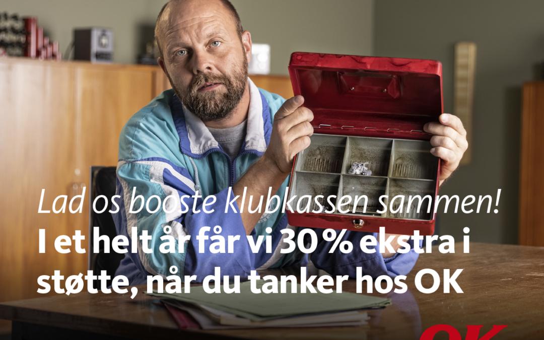 Få et OK Benzinkort eller hent OK's gratis app, så kan du støtte os, hver gang du tanker. Det gør en kæmpe forskel!